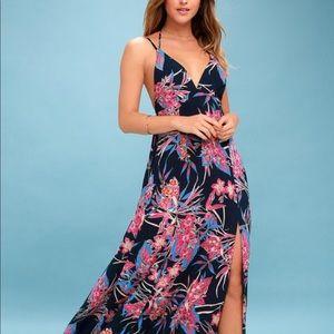LULU's Maxi Hawaiian Dress